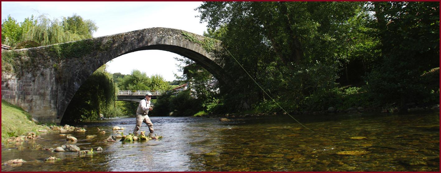 Pêche Tenkara sur la Nive de Baîgorry