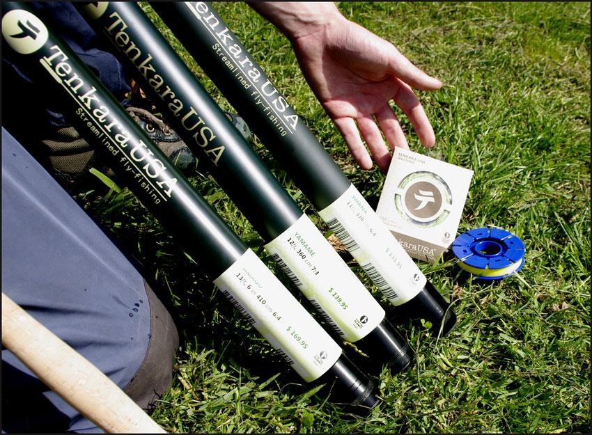 3 modèles de cannes Tenkara, 13 - 12 et 11 pieds